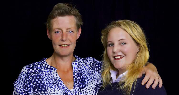 Annet Gnodde-Vleeshakker en dochter Elsa Gnodde