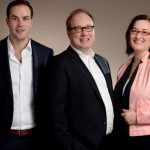 v.l.n.r.: Kars de Jong, Peter Wieringa en Claudia Wieringa