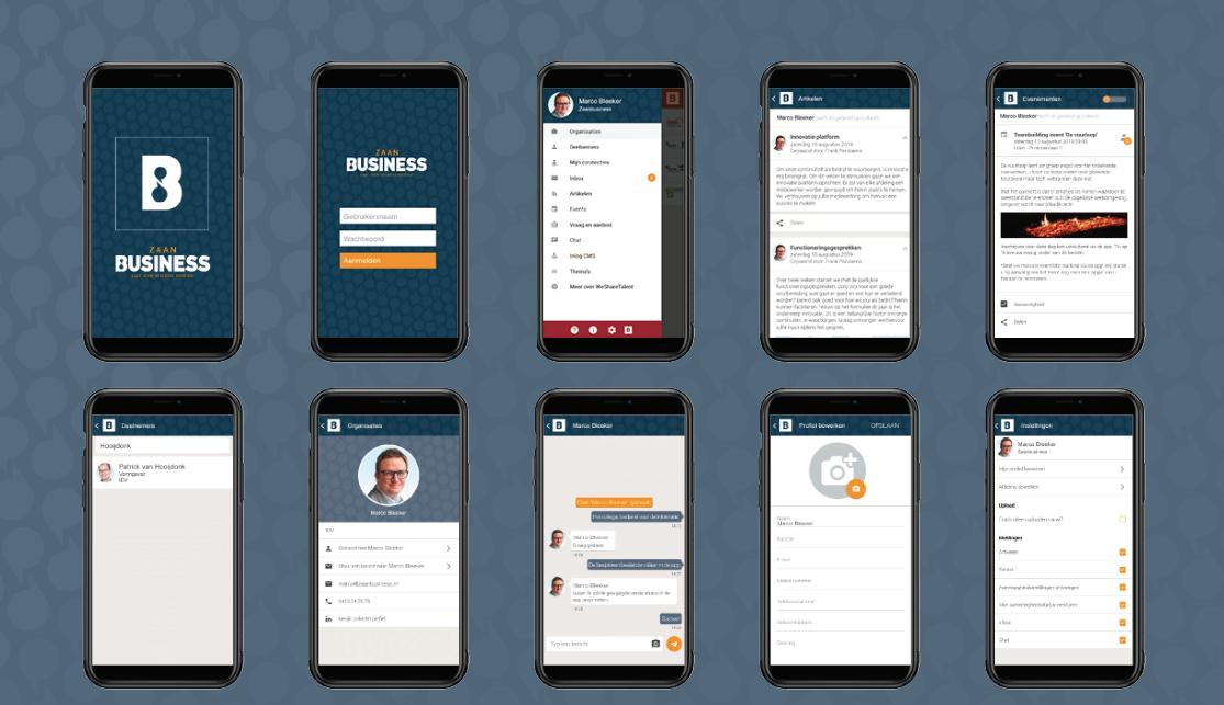 zaan business netwerk app